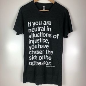 Tops - Desmond Tutu Quote Justice Tee, Size Small
